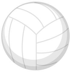 One volleyball on white background