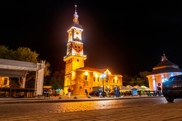 Town Hall in Kamenetz-Podolsky in the evening