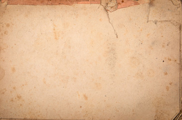 Old torn and dirty paper background. Free space for text