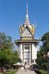 Phnom Penh, Cambodia - January 18, 2017:  Choeung Ek  Genocidal Center Killing fields in Phnom Penh Cambodia