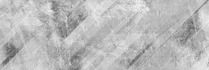 Wall Mural - Light grey abstract geometric grunge banner with concrete texture. Technology vector design