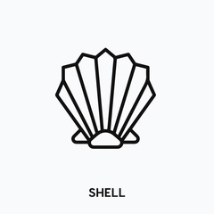 shell icon vector. shell symbol sign