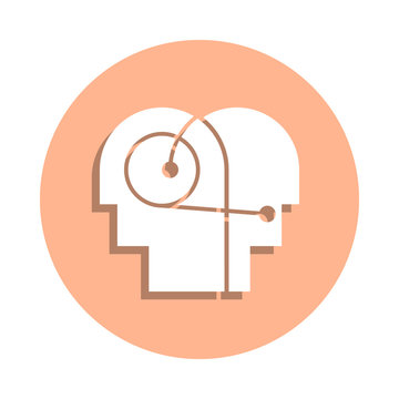 Better, communication, hearing, human badge icon. Simple glyph, flat vector of peace and humanrights icons for ui and ux, website or mobile application