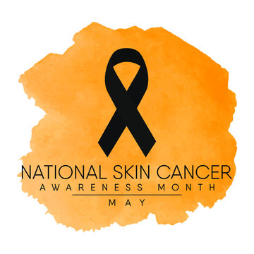 Vector illustration on the theme of Melanoma and skin cancer detection, prevention and awareness month of May.