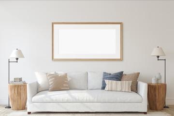 Modern living-room interior. 3d render. Fototapete