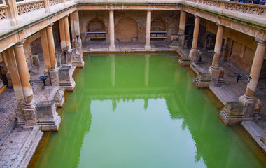 Roman bath in Bath, Somerset