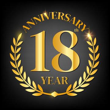 18th golden anniversary logo