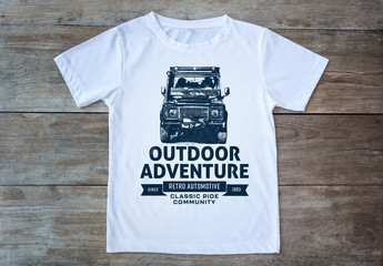Vintage Offroad T-Shirt Logo Layout