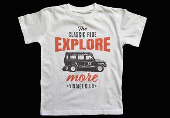 Vintage T-Shirt Car Logo Layout