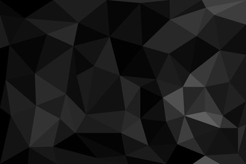 Abstract geometric black low poly vector background