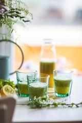 Fresh Lemonade from Lemon with Mint Leafs