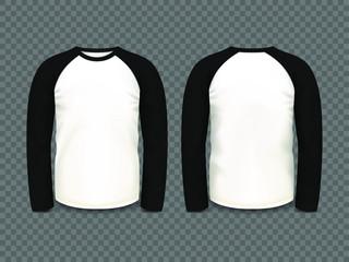Men's black raglan sweatshirt with long sleeve
