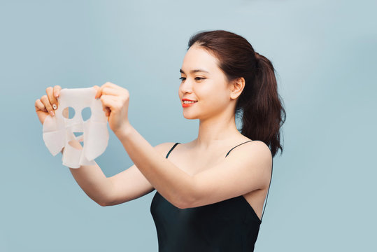 Young asian girl with facial mask