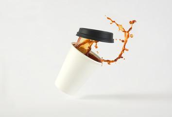 Coffee in Paper Cup Splash