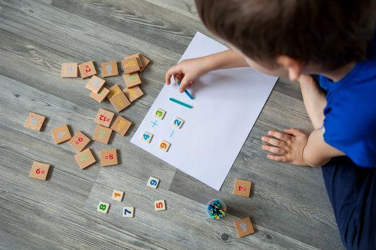 children learning ant home