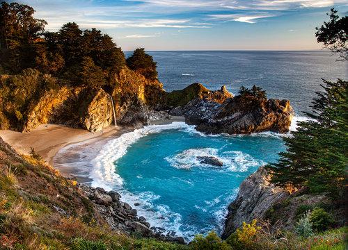 McWay Falls on the coast of California