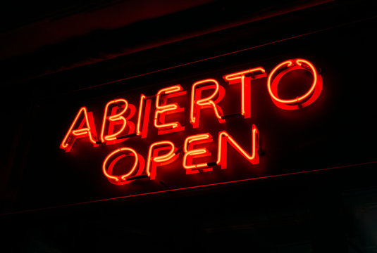 Abierto-Open Neon Sign