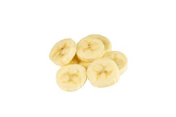 banan na białym tle  - fototapety na wymiar