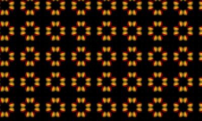pattern with symmetric geometric ornament. kaleidoscope background Fotobehang