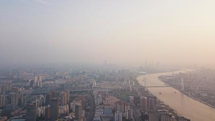 Keuken foto achterwand Historisch mon. Shanghai in the morning mist