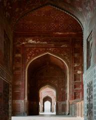 Mosque at the Taj Mahal.