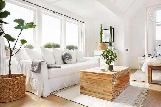 Beautifully designed modern farmhouse bedroom