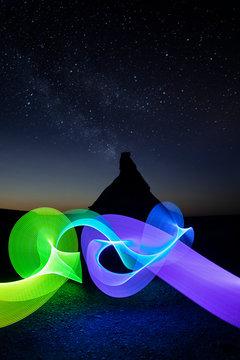 Lightpainting at magic hour