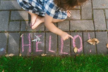 Hello in chalk