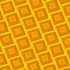 Square image of CPU pattern