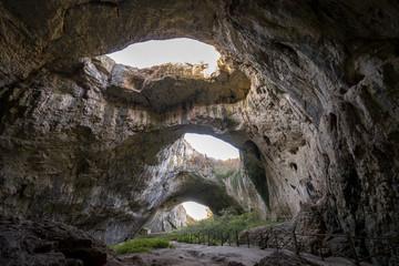 Devetashka Cave triple hole in Bulgaria