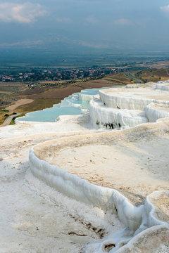 Pamukkale Travertine pool in Turkey