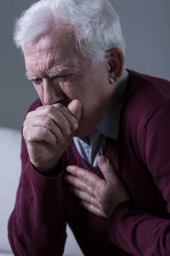 Opressive cough caused by virus