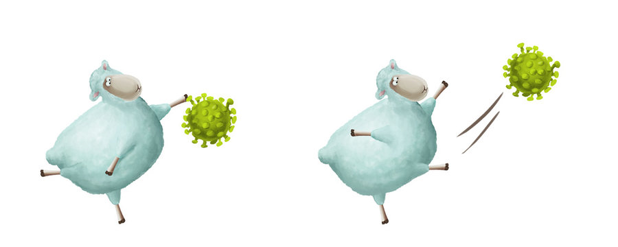 What to do if you have coronavirus. Positive illustration about health and immunity
