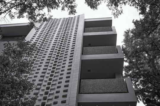 Tall modern building in New Orleans, USA
