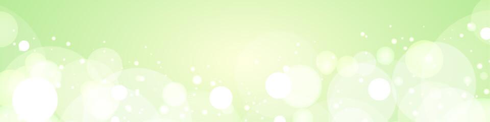 背景素材:グリーン バックグラウンド バブル 泡 メロンソーダ 木漏れ日 森 リーフ シャボン玉 - fototapety na wymiar