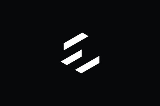 Minimal elegant monogram art logo. Outstanding professional trendy awesome artistic E EW WE initial based Alphabet icon logo. Premium Business logo White color on black background