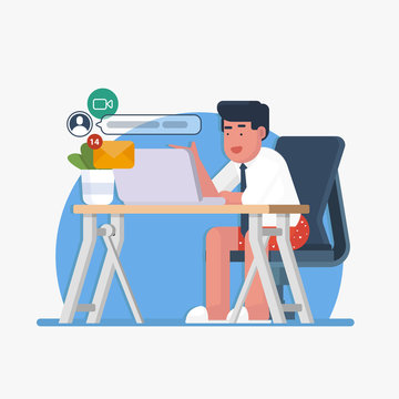 work from home vector illustration