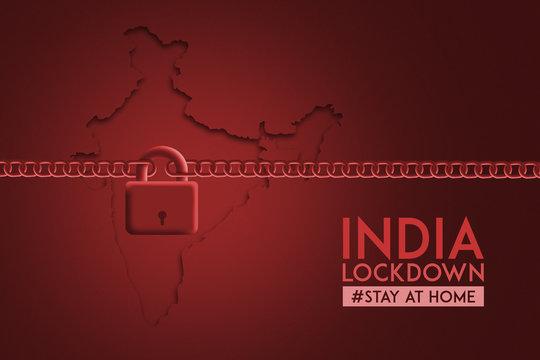 India Lock down Concept , Corona virus lock down