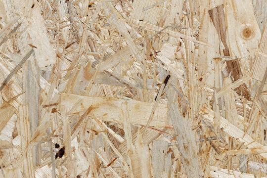 Bauholz: Oberflächenstruktur einer OSB-Platte