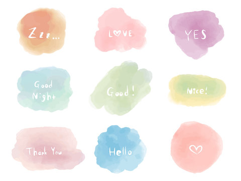 Watercolor Illustration, isolated on white background.