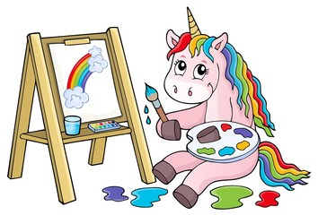 Canvas Prints For Kids Painting unicorn theme image 2