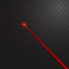 Abstract red laser beam. Vector