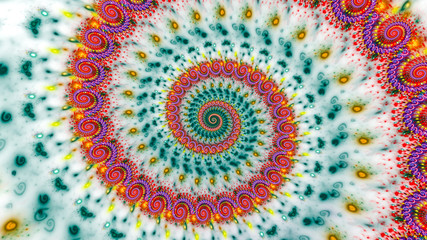 Papiers peints Spirale Multicolored psychedelic spiral abstract background
