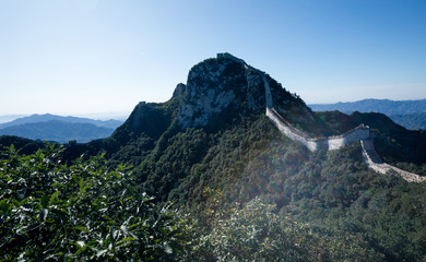 Foto op Aluminium Chinese Muur Landscape of the great wall in China