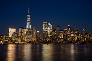 Obraz nocna panorama nowy jork - fototapety do salonu