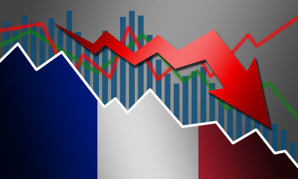 Recession and declining of economy in France