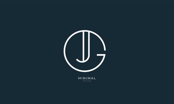 Alphabet letter icon logo GJ or JG