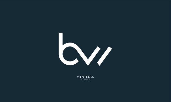 Alphabet letter icon logo BW