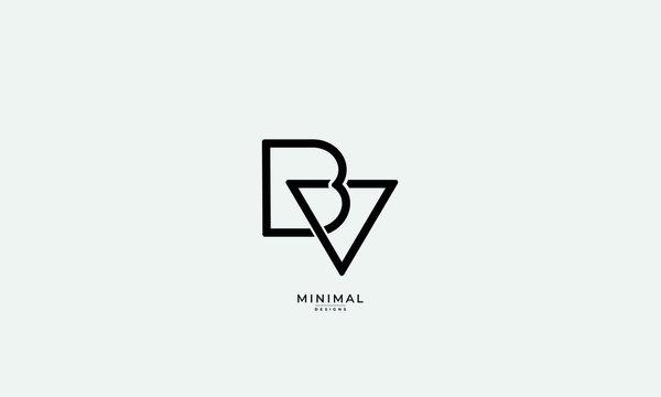 Alphabet letter icon logo BV
