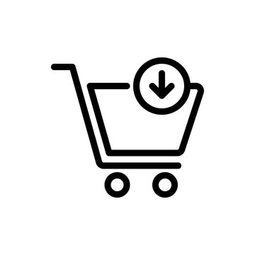 Add to Cart Vector Colour With Line Icon Illustration